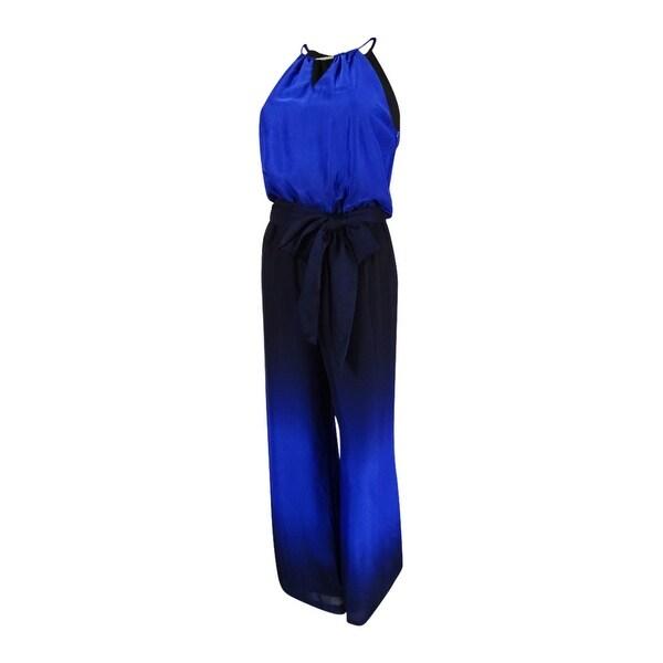 93911163385 Shop Tahari ASL Women s Petite Keyhole Halter Jumpsuit - midnight navy -  10P - Free Shipping Today - Overstock.com - 20739084