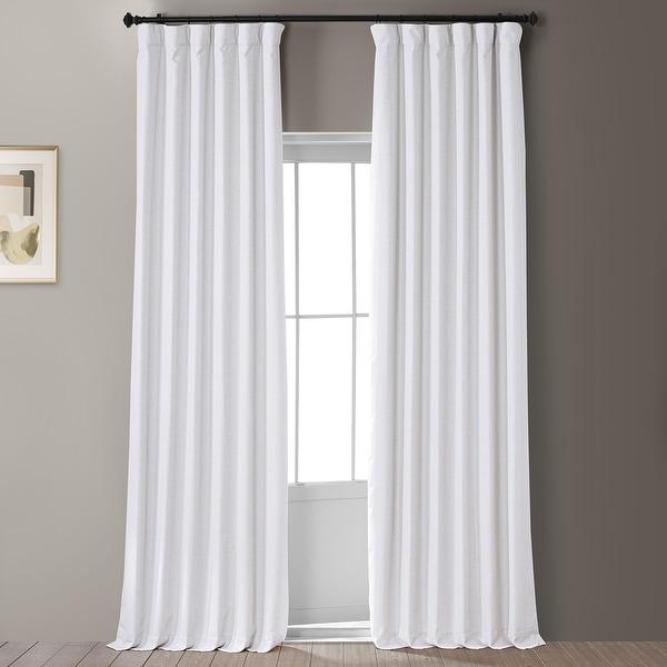 Exclusive Fabrics Signature Faux Linen Blackout Curtain. Opens flyout.