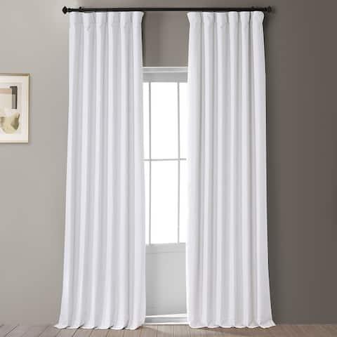 Exclusive Fabrics Signature Faux Linen Blackout Curtain