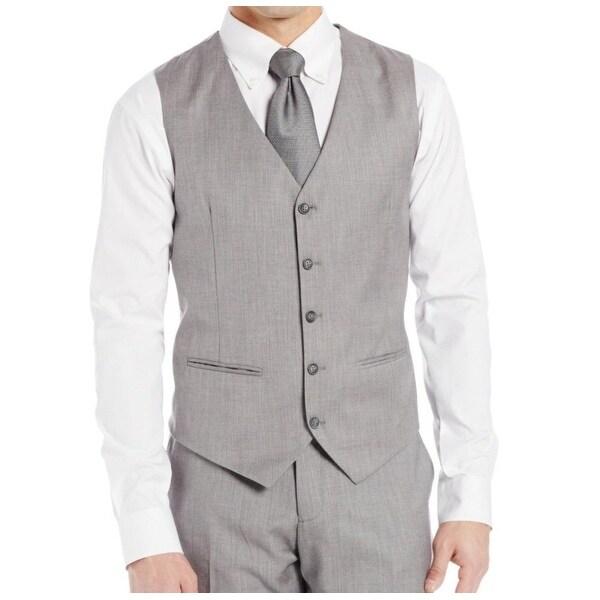 286026a305 Shop Perry Ellis NEW Gray Mens 3XL Textured Five-Button Satin Back ...
