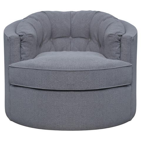 Priscille Fabric Swivel Accent Chair