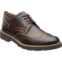 Florsheim Men's Casey Wing Tip Oxford Brown Leather