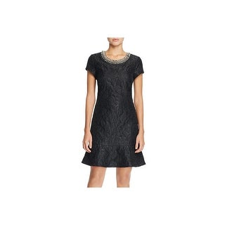 Laundry by Shelli Segal Womens Cocktail Dress Metallic Embellished