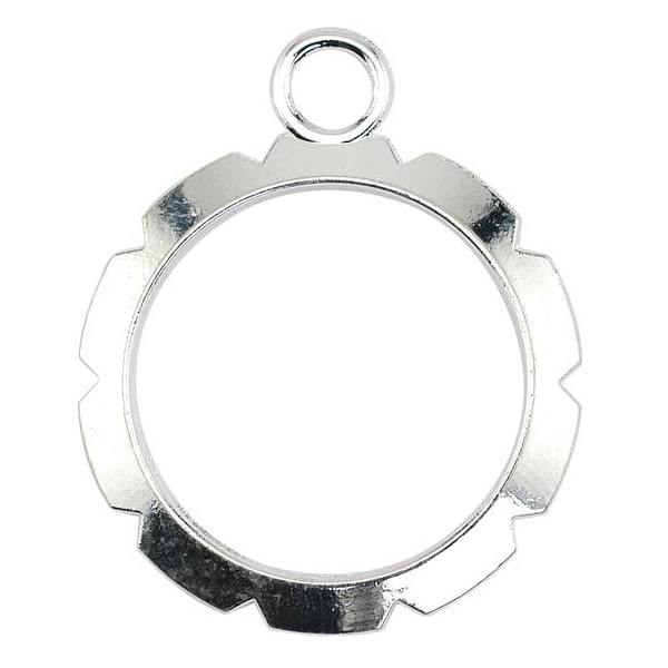 Artistic Wire, Round Wire Wrapper Frames 20mm, 6 Pieces, Silver Plated