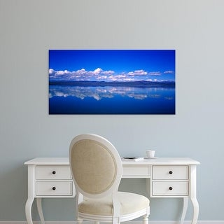 Easy Art Prints Panoramic Images's 'Reflection of clouds in water, Olfusa, Iceland' Premium Canvas Art