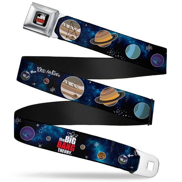 The Big Bang Theory Full Color Black White Red The Big Bang Theory Planets Seatbelt Belt