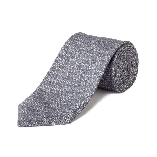 4cf510c8532b Shop Brioni Men's Silk Pattern Tie Grey/Pink - No Size - Free Shipping  Today - Overstock - 27402547
