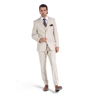 Porto Filo Khaki Color 3Pcs Slim-Fit Men's Champagne (Jacket+ Pant+Vest))