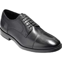 Cole Haan Men's Jay Grand Cap Toe Oxford Black Leather