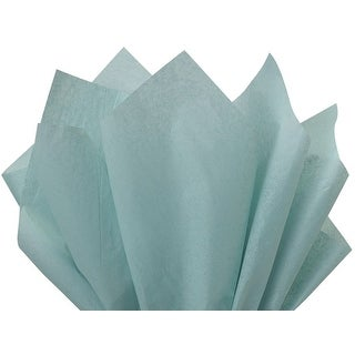 """Pack Of 480, Solid Blue Haze Tissue Paper 20 X 26"""" Sheet Half Ream Made From 100% Post Industrial Recycled Fibers Made In Usa"""