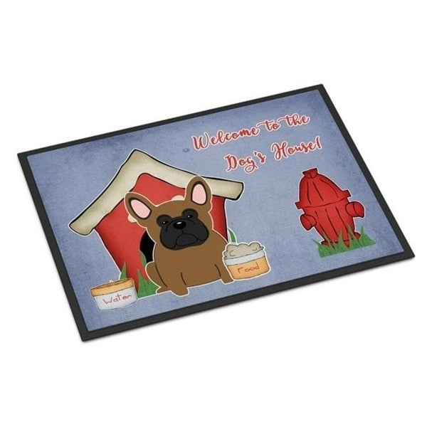 Carolines Treasures BB2767JMAT Dog House Collection French Bulldog Brown Indoor or Outdoor Mat 24 x 0.25 x 36 in.