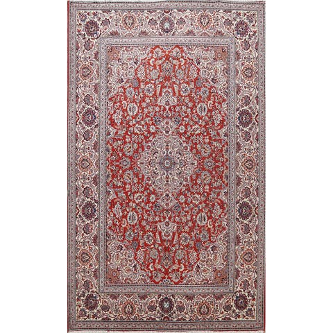 "Traditional Red Floral Tabriz Oriental Area Rug Living Room Carpet - 8'2"" x 11'7"""