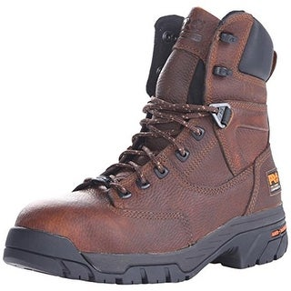 """Timberland Mens Helix 8"""" Leather Composite Toe Work Boots - 7.5 wide (e)"""