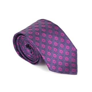 Etro Mens Purple 100% Silk Geometric Print 3.25 In Standard Tie - One size