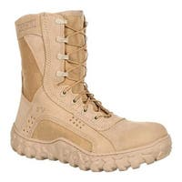 "Rocky Men's S2V 8"" Steel Toe 6101 Boot  Desert Tan"