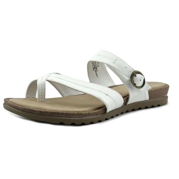 Kim Rogers Sadey Women Open Toe Synthetic White Slides Sandal
