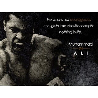 Muhammad Ali Poster Be Courageous Quote Art Print (18x24)