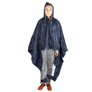 Motorcycle Plastic Water Resistant Dustproof Raincoat Protector Navy Blue