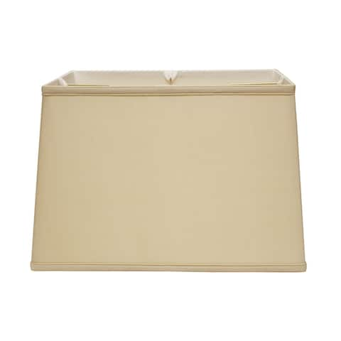 Cloth & Wire Slant Retro Rectangle Softback Lampshade with Washer Fitter, Natural