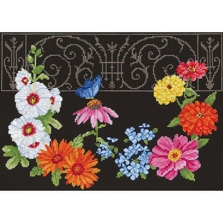 "Hidden Garden Counted Cross Stitch Kit-14""X11"" 14 Count"