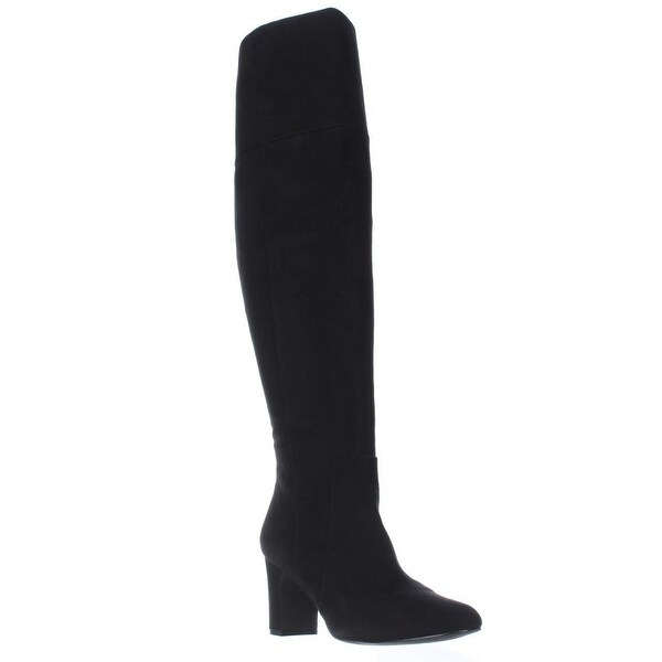 A35 Harrley Over-The-Knee Boots, Black