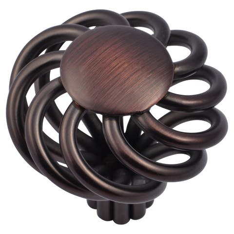 Stone Mill Hardware - Oil Rubbed Bronze Cornwall Birdcage Cabinet Knobs (Pack of 5)