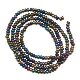 Czech Seed Beads 8/0 Heavy Metal Mix Purple Bronze (1 Half Hank)