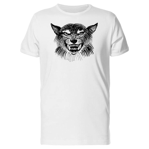 354dcd912 Shop Angry Wolf Head Grunge Sketch Tee Men's -Image by Shutterstock - Free  Shipping On Orders Over $45 - Overstock - 27959758