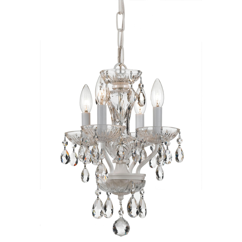 Traditional Italian Crystal 4 Light White Mini Chandelier 11 W X 15 H Overstock 14522350