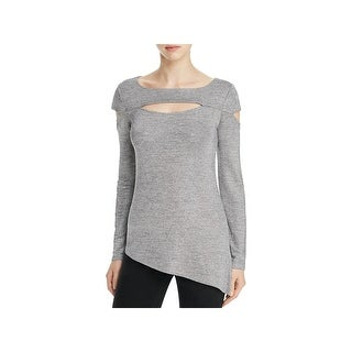 Love Scarlett Womens Pullover Top Knit Metallic