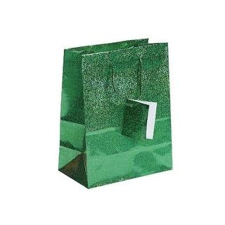 "Darice Gift Bag Hologram Green 7x9"""