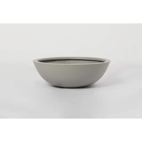 Short Bowl 1- Piece Fiber Stone Round Planter Pot