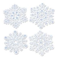 Pack of 48 Packaged Christmas Holiday Glittered Snowflake Cutouts 14""