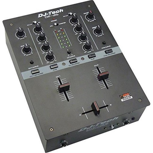 DJX DIF2SBLACK Battle Scratch Mixer, Black