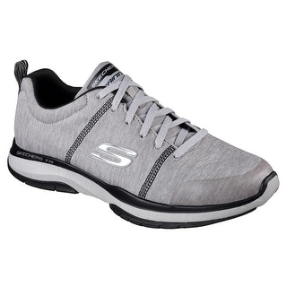 Skechers Men's Burst TR Locust Training Shoe,Light Gray/Black