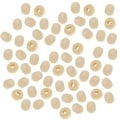 Round Wood Beads Pale Natural Beige 6mm - 500 Beads - Thumbnail 0