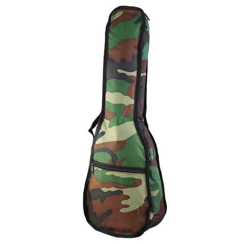 Single Shoulder Backpack Tenor Ukulele Soft Case Uke Padded Bag Camouflage Color