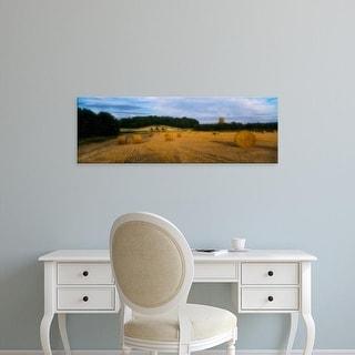 Easy Art Prints Panoramic Image 'New River Bridge, Howard Mausoleum, Castle Howard,North Yorkshire,England' Canvas Art