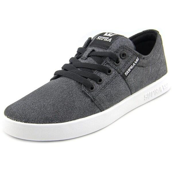 Supra Stacks II Men Washed Black-White Skateboarding Shoes