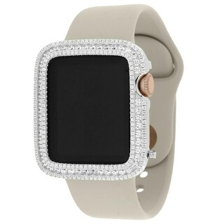 Apple Watch Sport 38mm Rose Gold Tone Aluminum Case W/ Stone Sport Band Iced Out