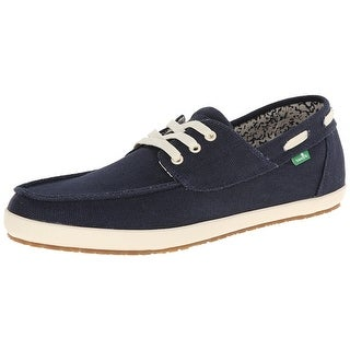 Sanuk Men's Casa Barco Boat Shoe, Navy, 9 M US