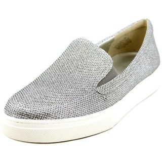 Bandolino Hollyn Women  Round Toe Canvas Silver Loafer