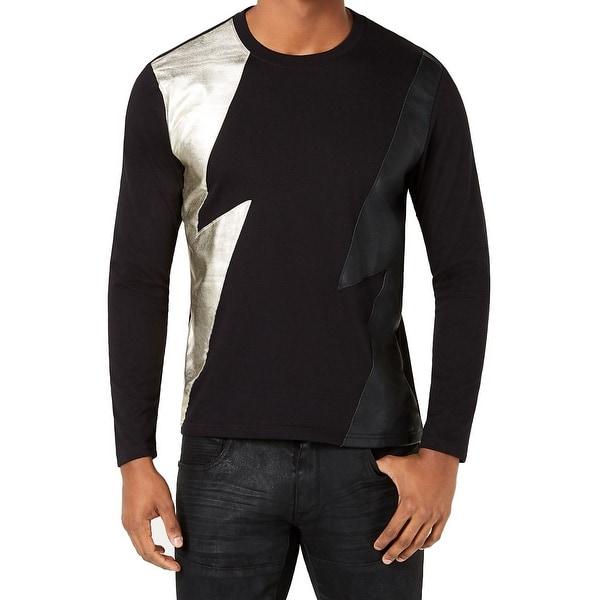 4c2b4683 INC Men's Crewneck Longsleeve Lightning T-Shirt