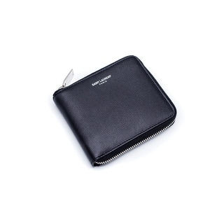 Saint Laurent Black Paris Coin Pouch Grain De Poudre Textured Wallet - S|https://ak1.ostkcdn.com/images/products/is/images/direct/d2e3aee24571f1862ea451d8cff037c84c8f1e5c/Saint-Laurent-Black-Paris-Coin-Pouch-Grain-De-Poudre-Textured-Wallet.jpg?impolicy=medium