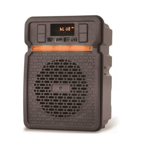Technical Pro Rechargeable LED Bluetooth Speaker With App I/P Bluetooth, USB, FM Radio, 30 Feet Range, On-The-Go Speaker
