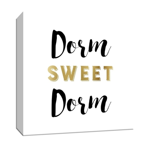 "PTM Images 9-147681 PTM Canvas Collection 12"" x 12"" - ""Dorm Sweet Dorm"" Giclee Sayings & Quotes Art Print on Canvas"