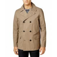 Tommy Hilfiger Beige Mens Size 2XL Double Breasted Peacoat