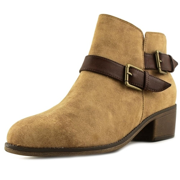 Seven Dials Yosepha Women Round Toe Suede Tan Ankle Boot