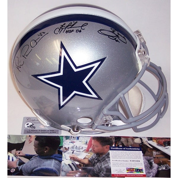 5a1f3f68b4f Shop Troy Aikman, Michael Irvin & Emmitt Smith Autographed Hand Signed Dallas  Cowboys Authentic Helmet PSADNA - Free Shipping Today - Overstock - 12267340