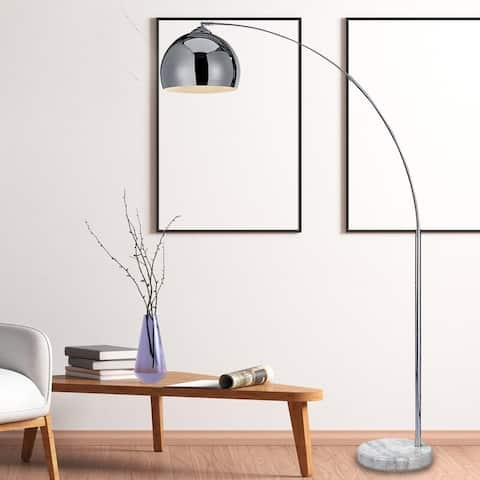 """Arc Floor Lamp 67"""" With Marble Base For Living Room"""
